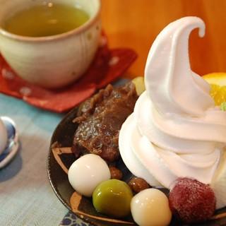 藍花 - 料理写真:白玉クリームあんみつ