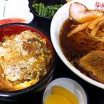 福田屋 - 料理写真:ラーメン・カツ丼セット