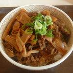 すき家 - 食べラー・メンマ丼 380円