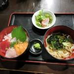 五島列島天然魚と日本酒 郷味 - 海鮮丼セット、丼s