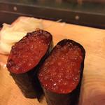 七輪浜焼きと鮨 番屋余市 - イクラ、美味しいやつ