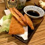 いけ三やぎ商店 - *チーズ入りハムカツ(¥430)