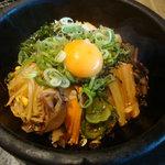 焼肉の名門 天壇 銀座店 - 石焼きビビンバUP