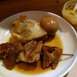 博多のおでん - マイ定番のスジと玉子。