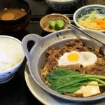 麒麟亭 - 肉大盛牛鍋1250円