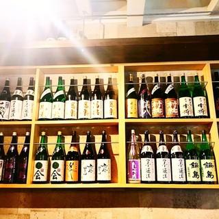 辛口の純米酒、ひやおろし、無濾過生原酒、大吟醸など多種