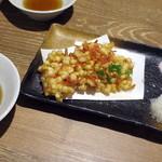 どさんこキッチン レトロなごりら - トウモロコシと桜海老のかき揚げ_650円