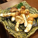柚木元 - 松茸の炭火焼の松茸