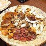 柚木元 - 熊と天然茸の鍋の天然茸