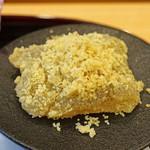 柚木元 - 自家製の栗粉のわらび餅