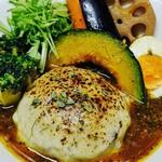 ルー&スープカレー ボナンザ - 【チーズバンバーグスープカレー】