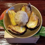 下鴨茶寮 - 栗の渋皮もカリカリで食べれます
