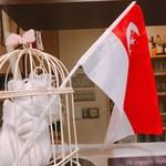 エビス新東記 - マーライオンが持つシンガポール国旗