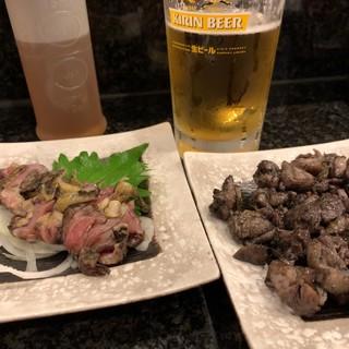 赤鶏炭焼 大安 - 地鶏の刺身ともも焼き