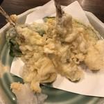日本料理 はら田 - めごち天(小)@500円。揚げたての天ぷらは、衣はサクサク、身はホッコリと仕上がり、とても美味しかったです(╹◡╹)