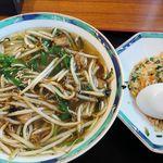大喜 - 料理写真:大喜(ニラそば・半チャンセット 1,050円)