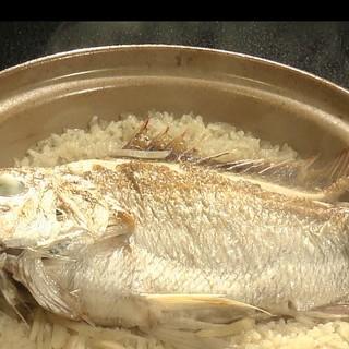 天然真鯛の鯛飯・・TV朝日「旅する相棒」で放映されました・・