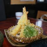 蕎麦割烹 黒帯 - 海老天婦羅☆