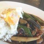 9406662 - ランチ日替り 茄子とピーマンの豚挽肉炒め