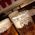 ルナビアンカ - 生ビールメガジョッキ¥500(1人1品注文で半額)
