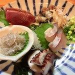 肴やのんき - 料理写真:「刺身盛り合わせ1人前」1500円