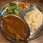 Spice食堂 - 料理写真:秋刀魚マサラカレーセット