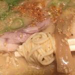 ちゃぶとん - ちゃぶとん ラーメン (´∀`)/ 麺上げ