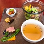 Aji-to - 料理写真:前菜とスープのプレート
