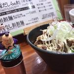 94071116 - チャーシュー丼とワンさん。