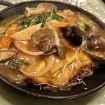 広東料理 吉兆 - 蜊香旦炒麺(浅利と玉子の焼きそば)
