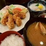 かに猿 - 牡蠣フライ定食(期間限定)