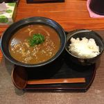 カレーうどん専門店 KAIUN - ランチの熟成肉カレーうどん+ライス ¥800
