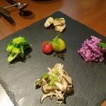 トラットリア ルッソ - 野菜のマリネ