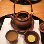 まき村 - 松茸鱧の土瓶蒸し