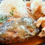 9408534 - ハンバーグと若鶏の香り揚げさっぱりおろしぽん酢