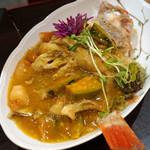 アロン - カサゴ、南瓜の上海カニ味噌煮