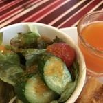 モンシェル トン トン - しっかり野菜サラダとオレンジのゼリー(2018.10.7)
