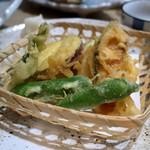 しあわせ料理 萬てん - 野菜の天ぷら盛合せ