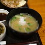 酒の穴 - 味噌汁
