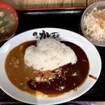 94092813 - バームクーヘン豚脂身カレー定食セット 700円