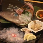 長州個室居酒屋 悠遊 - 活カワハギの姿造り