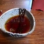 手打ちそば やぶ内 - 蕎麦湯