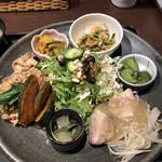 花様 - 近江野菜6種おばんざい御膳(アップ)♪