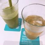 スノービーンズコーヒー - 日替わりスムージーと日替わり紅茶