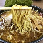 味噌蔵 麺駒亭 - 黒麺アップ