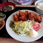 お食事処 雅 - 料理写真:家人の唐揚げ定食(ご飯普通盛り)