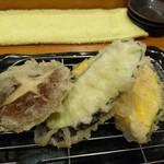 天ぷら わた辺 - しいたけ、なす、カボチャ