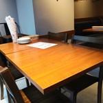 魚貝とワインと時々お肉 YOKOHAMA Mar Mare - 窓際のテーブル席