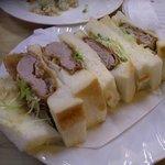 タンゴ - 日替わり定食 ひれかつサンド