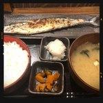 しんぱち食堂 - 新さんま塩焼き定食 780円